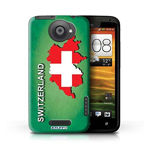 Kobalt® Imprimé Etui / Coque pour HTC One X / Grèce/Grecque conception / Série Drapeau Pays Suisse/Swiss