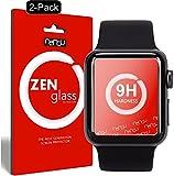 nandu I ZenGlass [2 Stück] Flexible Glas-Folie für Apple Watch 3 42mm Panzerfolie I Display-Schutzfolie 9H I (Kleiner Als Das Gewölbte Display)
