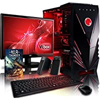 "VIBOX Delta Desktop Gaming PC Package 12 - with Windows 10 OS, WarThunder Game Bundle, 22"" Monitor, Speakers, Keyboard & Mouse (3.9GHz AMD FX Six Core Processor, Nvidia Geforce GT 730 Graphics Card, 1TB Hard Drive, 16GB RAM)"