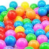 Coscelia 50x Bällebadbälle 5,5 cm Kinderbälle Plastikbälle Wasserball Wasserspielzeug Bällebad Bälle Babybälle