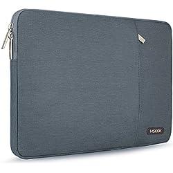 """Hseok 13-13,3"""" Housse de PC Portable Compatible MacBook Air 13 A1369/A1466, MacBook Pro Retina 13, Sacoche Ordinateur Portable Étui Antichoc Certifié Résistant à l'eau & Plus 14 Pouces, Gris foncé"""