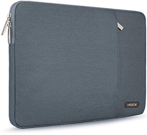HSEOK 15,6 Zoll Laptop Hülle Tasche,Stoßfeste Wasserdicht PC Sleeve kompatibel mit 15,4 Zoll MacBook Pro Retina A1398/Pro A1286 und die meisten 15,6 Zoll Laptops(Dell/HP/Lenovo/Acer Ausu), Dunkelgrau