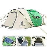 Geertop 3-5 Personne Instant Pop Up Extérieur Tente Sky-Window, Installation Instantanée Automatique, Sun Shelter Famille Randonnée Plage Camping