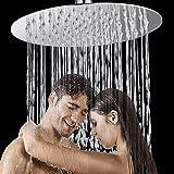 HG Power Duschkopf Regendusche 12 Zoll Regendusche Regenbrause 304 Edelstahl Duschkopf Wasserfall Regenduschkopf Spiegeleffekt Einbauduschkopf Anti-Kalk Duschkopf Kopfbrause Mit Silikon-düsen