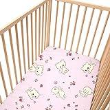 Pink Kittens (Les chatons) / Lot de 2 draps housse Pati'Chou pour lit bébé