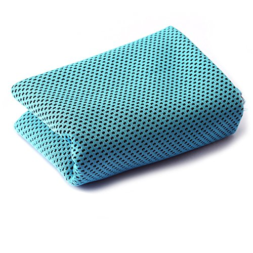 Mesh Cooling Handtuch für Fitnessstudio, Yoga, Laufen, Outdoor Sport, 134/12,7cm WX352/12,7cm L, unisex, hellblau (Aspire Mesh)