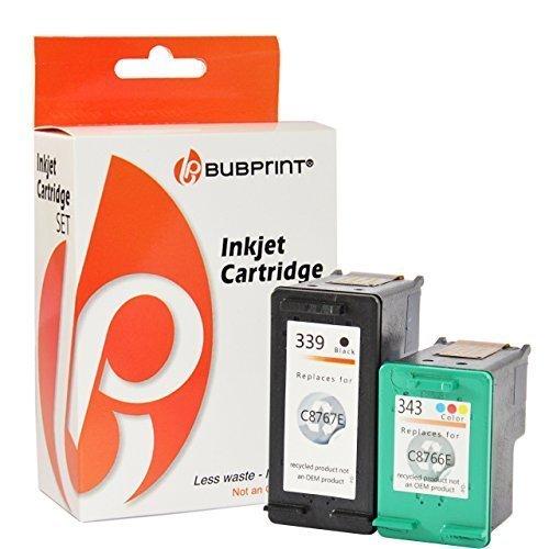 Bubprint 2 Druckerpatronen kompatibel für HP 339 343 für Deskjet 5940 6500 6840 6980 Officejet 7210 7310 K7100 Photosmart 2575 2610 8050 8150 8450 (Printer 100 Hp Mobile)
