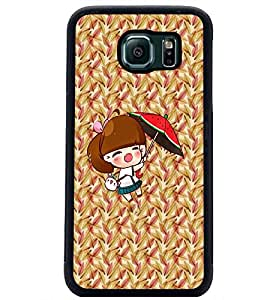 PrintDhaba Pretty Doll D-5634 Back Case Cover for SAMSUNG GALAXY S6 (Multi-Coloured)