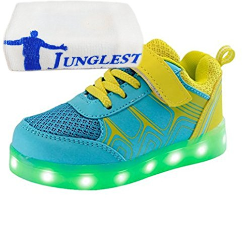 Jungen Blau Sportschuhe Bunte Mdchen Kinder Sneakers Led Athletische Handtuch junglest® present Leuchtet kleines SwxH7IqSnB