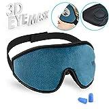 Cynthia 3D Schlafmaske Damen und Herren, Augenmaske Nachtmaske komplette Dunkelheit Verstellbarem Gummiband 100% Hautfreundlich Seide Geruchneutral Schlafbrille mit Ohrstöpseln