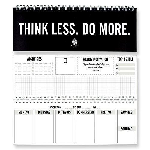 CHIEFS & TRIBES® Tischkalender I Wochenkalender im Quer-Format I 52 Wochen, 1 Woche 2 Seiten I Ohne festes Datum für 365 Tage I Terminplaner 2019
