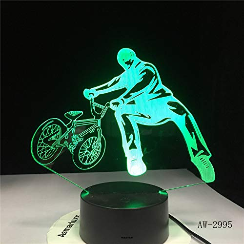 Wangzj 3d illusion lamp / 7 cambia colore decor decor/bambini regali di compleanno di natale/luce notturna 3d / lampada led/bmx