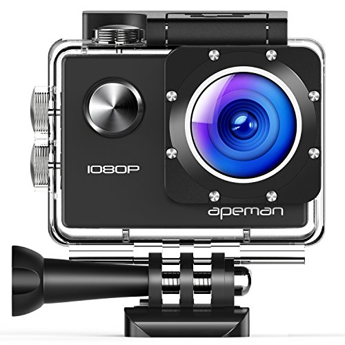 APEMAN Action Cam Full HD 1080P con Custodia Impermeabile Subacqueo Action Sport Camera 170°Grandangolare