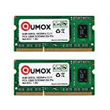 QUMOX 8GB (2x 4GB) 204 Kiefer DDR3L-1600 SO-DIMM (1600Mhz, PC3L-12800S, CL11, 1.35V, Low Voltage)