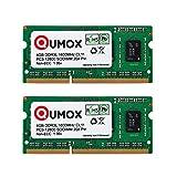 QUMOX 8GB (2x 4GB) 204 Kiefer DDR3L-1600 SO-DIMM (1600Mhz, PC3L-12800S, CL11, 1.35V, Low Voltage)