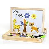 Buself Magnetisches Holzpuzzle Spielzeug ab 2 jahren,Magnetpuzzle Kinderspielzeug ab 2 jahre...