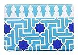 Geometrische Muster Tür Matte Schöne Tür Matte, Hellblau