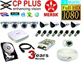 CP Plus 8 Ch HD Dvr and Mersk Full HD (3MP) CCTV Camera Kit with (All Required Accessories) Note : No Installation Servive