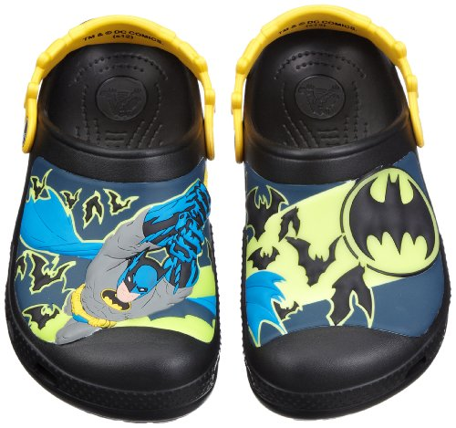Crocs batman custom clog k, zoccoli e sabot, unisex - bambino, nero (bksb), 21-22