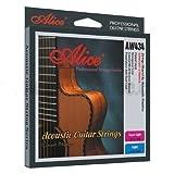 Alice - Cordes pour les guitares folk, acoustiques et electro acoustiques 80/20 BRONZE avec de placage empecher corrosion. Custom light 11/52