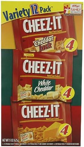 Sunshine® Cheez-It® Variety 12 Pack™ Cheddar Jack, Weisser Cheddar & Original Aroma 35 Gramm Schachtel (3er (Weißer Cheddar)