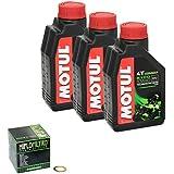 MOTUL 4055029034402 Número 1 kit de cambio de aceite Motul 5100 10W / 40 de aceite del motor del filtro de aceite HiFlo anillo de sellado de cobre para Suzuki Quad Sport Z 400 (LT-Z 400) adecuado para el año 2003 a 2013 (Tipo: AK47A, AK4AA).