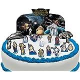 Scène pour gâteau Star Wars comestible PRÉ-DÉCOUPÉE - 21 décorations par Cakeshop