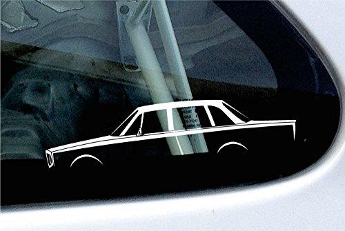 2x adesivi per auto silhouette-Base Volvo 140berlina Classic