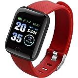 LAIYYI Färgskärm smartklocka, IP67 vattentätt smart Bluetooth-armband med fitnessmätare sömnmätare stegräknare blodtrycksmäta