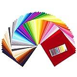 SOLEDI 60 Farben Filzstoff Filztuch Geeignet für Nähen, 30 * 30cm Felt Fabric Filzplatten zum DIY Handwerk Nähen Projekte Patchwork