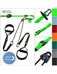eaglefit® Sling Trainer EXCLUSIVE; Schlingentrainer mit Umlenkrolle, Deckenbefestigung, Türanker, Modell 2017