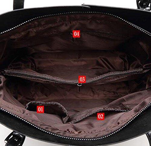 Frauen Handtaschen Mode Handtaschen Für Frauen Einfache PU Leder SchultertaschenTote Taschen Black