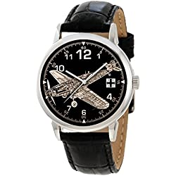 Messerschmitt Bf-109 Commemorative German Luftwaffe Art 40 mm Collector's Edition Wrist Watch
