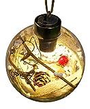 La vogue Weihnachtskugeln LED aus Plastik Transparent Christbaumkugeln Christbaumschmuck Type3