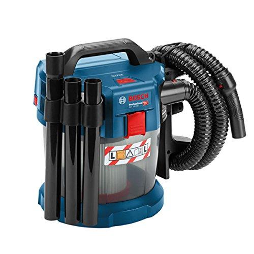 Bosch Professional 06019C6300 Professional Akku Nass und Trockensauger Gas, Bogenrohr, 3x Verlängerungsrohr, Fugendüse, Bodendüse, HEPA-Filter, 18 V, 10 L, 1,6 m Schlauchlänge
