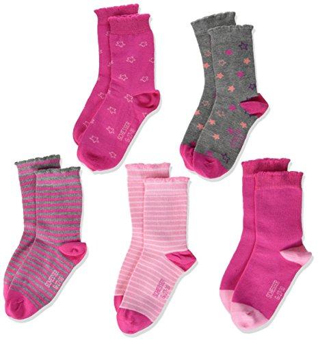 Schiesser Mädchen Socken Kindersocken (5PACK), 5er Pack, Mehrfarbig (Sortiert 1 901), 23-26 (Herstellergröße: 452)