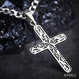 STERLL Herren Hals-Kette, Sterling-Silber 925, Kreuz-Anhänger Geschenk-Set, Gothic - 4