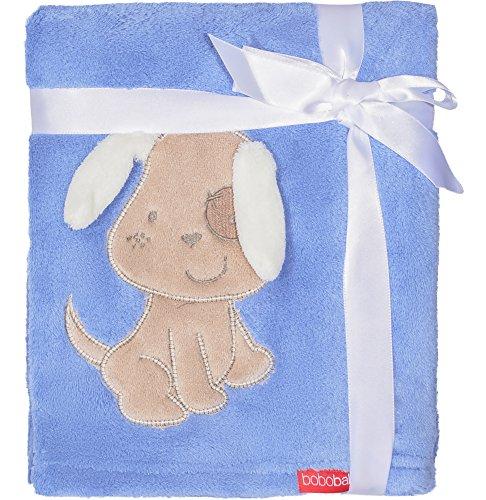 Morbido coperta con 3d applicazione per bebè 76 x 102 cm kcsn08(blu scuro - cane (2016))