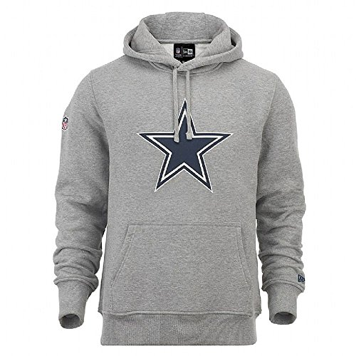New Era Herren Kapuzenpullover NFL Team Logo PO Hoodie Dallas Cowboys Grau