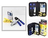 KALEA-INFORMATIQUE  - Kit outils réseau NF1202 - Pour tester et câbler : testeur, dénudeur, pince, punch tools câbles