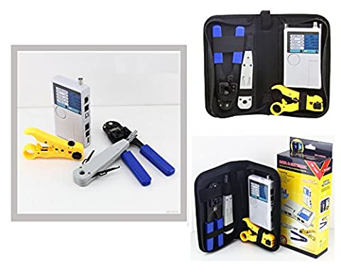 Kalea Informatique nf1202Network Tool Kit–For testing and Wiring Cable Tester, Cable, Clamp, Punch