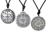 MagiDeal 3pcs Charms Rune Collier Pendant Norrois Viking Talisman Amulet Chance