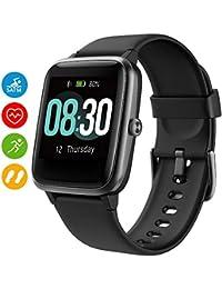 UMIDIGI Smartwatch Fitness Tracker Watch Uwatch3, Smart Watch Women Men Children Wrist Heart Rate Monitor Pedometer Waterproof 5ATM for Android iOS Xiaomi Samsung Huawei - Black