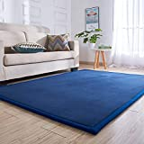MAXYOYO Children Play Mat- Thick Soft Nursery Rug Protect Carpet Crawling Mat for Baby Toddler Play, Living Room, Baby's Bedroom, Non-Slip/Wear Resistant/Easy to Clean, Brilliant Size 75 by 110 Inch