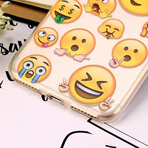 Für Iphone 7 Plus hülle Jamicy® Emoji Extra dünn Fallschutz Objektivschutz Rutschfest Schutzhülle Weiches Silikon handyhülle Telefonschale Für Iphone 7 Plus 5.5'' (I) L