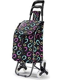 XIN Carrello per la spesa leggero Carrello pieghevole per bagagli pieghevole con ruote Shopper per Go Up e Down Scale 6 ruote, R