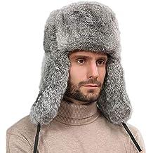 3150c0423e767 nihiug Men sBomber Sombreros Caza Sombrero Máscara A Prueba De Viento  Invierno Patinaje Gruesa Y