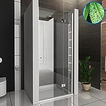 duschwand duschabtrennung mit glasveredelung nischentr dusche wannenma 90 cm 6 mm easyclean glas - Dusche Nischentur 85 Cm