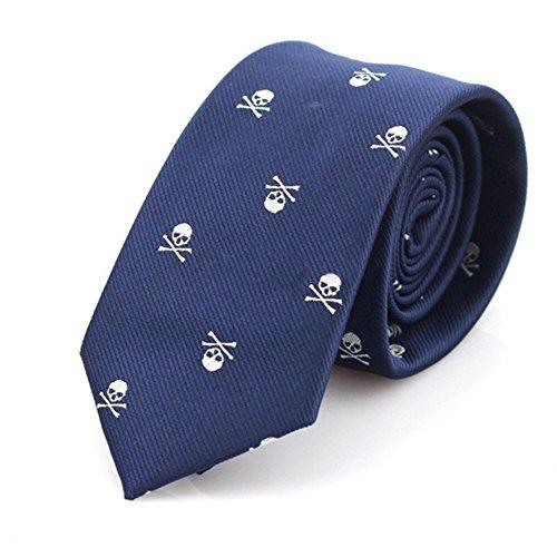 Corbata para hombres Skgardeniamy, estrecha, con calaveras,...