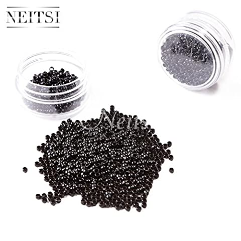 Neitsi® 100/200/500/1000 pcs Nano Rings Beads for Nano Hair Extensions Hair Rings 5 colors Optional (500, Black)